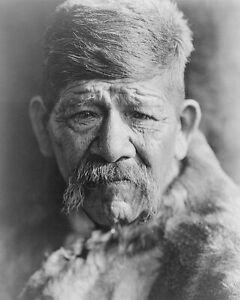 YOKUTS CHIEF EDWARD S. CURTIS PORTRAIT 1924 8x10 SILVER HALIDE PHOTO PRINT