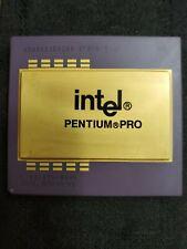 Intel Pentium Pro Gold Top Processor With Pins