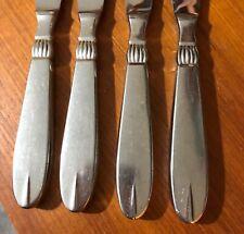 Raadvad Stainless Dinner Knives x 4 Denmark Sival Steel