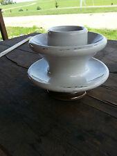 Large White & Brown ceramic glazed insulator - Rare