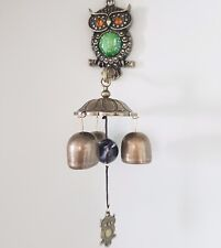 Owl  Cast Iron Door Bell Chime Magnet on the back Resonating sound