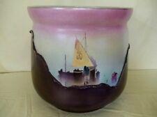 Bretby Large Jardinière Nautical Sailboats English Art Pottery c1920 Pastels