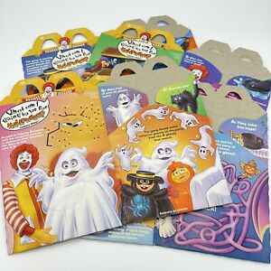 Mcdonalds Happy Meal Box Boxes 1995 Halloween Set Of 4
