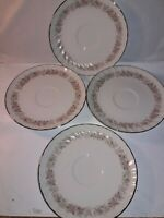 """4 pieces DANISCO 6"""" saucers In The Teahouse Rose Pattern, Japan"""