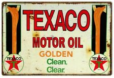 Texaco Motor Oil Reproduction Gas Station Metal Sign - 18 in x 30 In RVG167