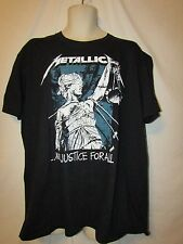 mens metallica t-shirt XL nwot and justice for all black