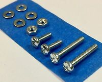 Headshell Cartridge Mounting Screws Washers Nuts Hardware Turntable Kit 10pc set