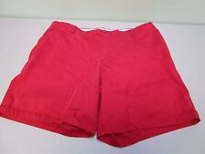 Tommy Hilfiger Shorts Hook & Button Zip Four Pocket Red Women's Size 16 Nice