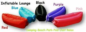 Inflatable Air Bag Sofa Travel Camping Beach Lazy Lounger Sleeping Bed Present