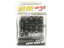 Muteki SR35 Extended Closed Ended Wheel Tuner Lug Nuts Chrome Black 12x1.5mm NEW