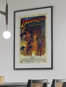 Indiana Jones Fate of Atlantis LucasArts Arcade Video Game Poster 24 x 36 inches