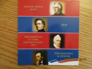 RARE Complete 2010 P & D Presidential Dollars $1 Uncirculated Opened US Mint XE4