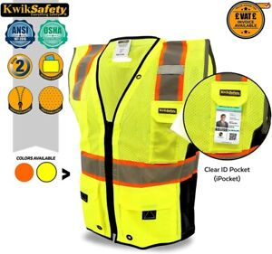KwikSafety TOP Class 2 iPocket Safety Vest 360° High Visibility Reflective