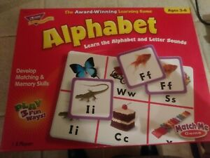 Trend Alphabet Match Me Game COMPLETE educational board Game Toy