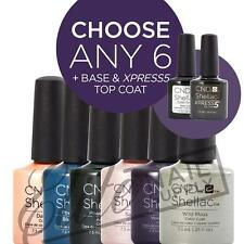 CND SHELLAC - 7.3ml - Any 6 Colours + Base + XPRESS5 Top