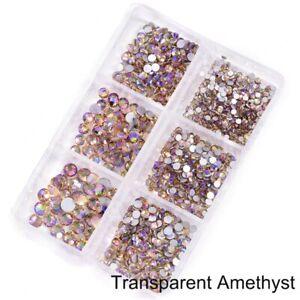 50 Box Mixed Size Glass Nail Art Rhinestones Flatback AB Crystal 3D Gem Manicure