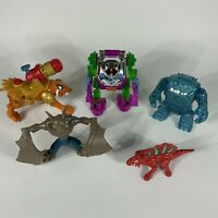 lot imaginext action figures clayface tiger bat dino robot suit toys mattel