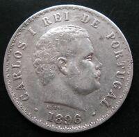 PORTUGAL , 500 REIS DE 1896 . PLATA