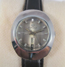RARE VINTAGE OMAX LASER BEAM D&D AUTOMATIC TWO TONE DIAL RADO MODEL WATCH #X23