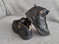310805-012 Nike Air Jordan 10 Retro NYC Men's Leather Basketball Shoes Black 9.5