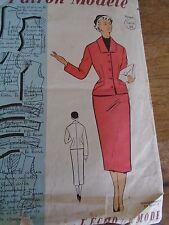 ANCIEN PATRON ECHO DE LA MODE  -Vintage French TAILLEUR ELEGANTE 1950/1960