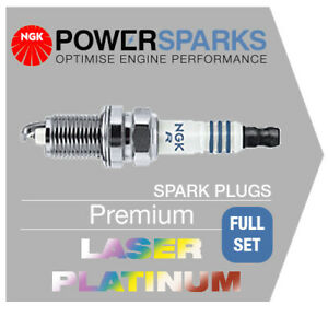 VW PASSAT 1.4 TSI 09/07- CAXA NGK LASER PLATINUM SPARK PLUGS x 4 PZFR6R [5758]