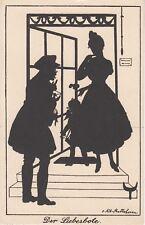Künstler Postkarte - Schattenbild / Der Liebesbote