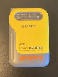 Sony Sports FM/AM Walkman Radio SRF-85 Tested & Works Great!