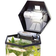 "Nano Aquarium: Beleuchtetes Panorama-Aquarium ""Hexagon"", Komplett-Set, 19 l"