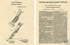 1869 VACUUM CLEANER US PATENT Art Print READY TO FRAME! Vintage Vaccum Sweeper
