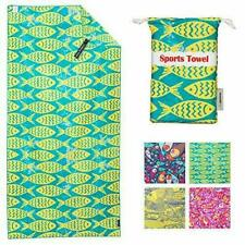 4Monster Microfiber Beach Towel with carry bag Sand Proof Fish 160x80cm B99