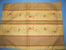 New Pair Handcrafted 18x13½ Floral and Striped Pillows