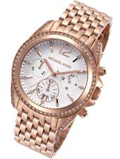 Michael Kors MK5836 Women's Pressley Chron White Dial Rose Gold-tone Watch