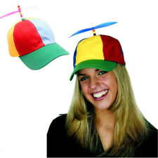 Propeller Ball Baseball Cap Hat Multi-Color Clown Costume Accessory Adjustable Y