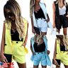 2Pcs Women Suit Short Sleeve Vest Coat+Shorts Set Blazer OL Office Workwear US