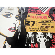Koumu New York Graffiti Mural Blondie Ticket 1979 Photo Canvas Art Print Poster