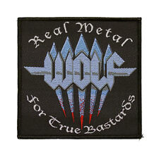 Wolf Woven Patch - Real Metal For True Bastards Sew On Music Band 081
