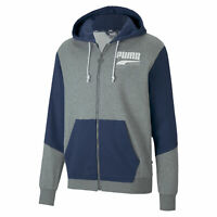 PUMA Rebel Block Men's Full Zip Hoodie Men Sweat Basics