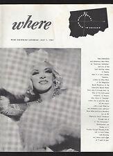 "Mae West ""SEXTETTE"" (Sextet) Ethel Merman ""Gypsy"" 1961 Chicago ""Where"" Magazine"