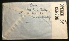1942 Colombo Ceylon Censored cover To England