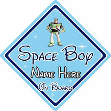 Personalised Disney Space Boy On Board Car Sign - Toy Story Buzz Lightyear