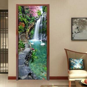 Door 3d Sticker Wallpapers Custom Home Mural Wallpaper Kitchen Decoration
