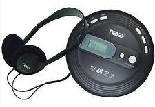 Naxa Portable MP3 CD Player Antiskip FM Radio Headphones Black