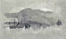 Antique print:Cap Tourmente Charlevoix Quebec Saint Lawrence River 1889