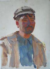 Soviet Socialist Realist Painting,Armenian Laborer,Armenian Modern Art,1950s