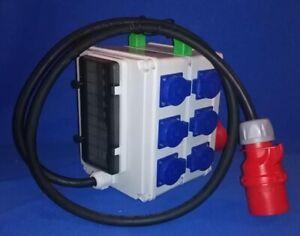 Stromverteiler  stromi17 Box  CEE 32A  auf 6x Schuko, 2x CEE 16A