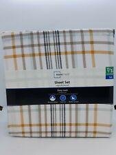 NEW Mainstays 300 Thread Count Twin/Twin XL 3 Piece Sheet Set ~ Plaid