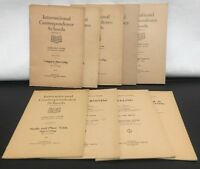 Lot of 9 Vtg 1922 International Correspondence Schools Instruction Paper Booklet
