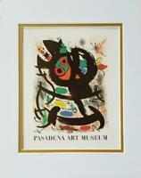 Joan Miro Pasadena Art Museum Exhibition Poster Print Matted Offset Litho 1980