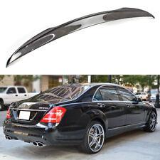 2007~2013 Carbon Fiber Rear Trunk Spoiler V Look For Mercedes Benz W221 4D